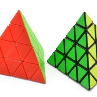 T-tra-dre-pyramide-Triangle-multicolore-sans-b-ton-noir-4x4x4-vitesse-magique-Cube-Twist-Puzzle